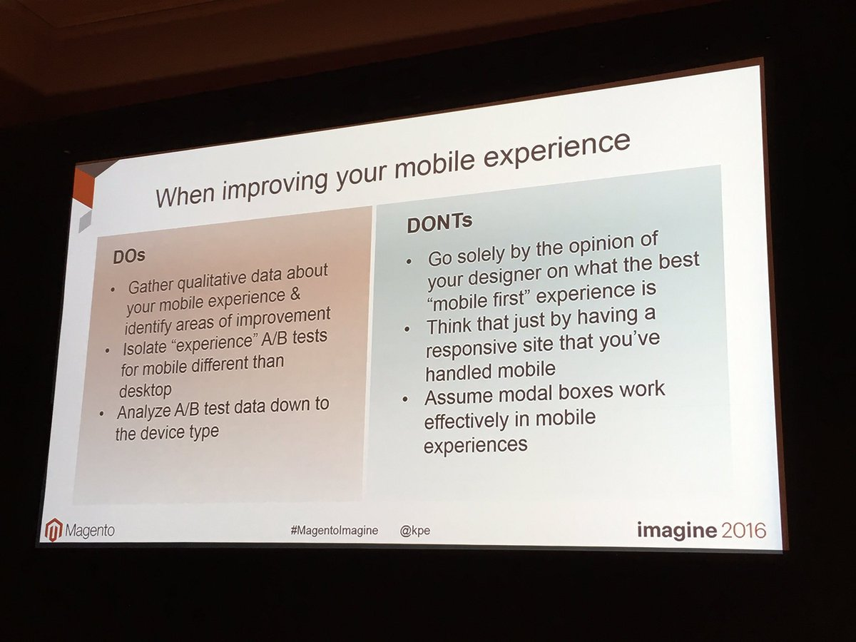 garymediaspa: Great mobile testing guidelines from Blue Acorn #MagentoImagine @kpe https://t.co/7XZhXSKUNW