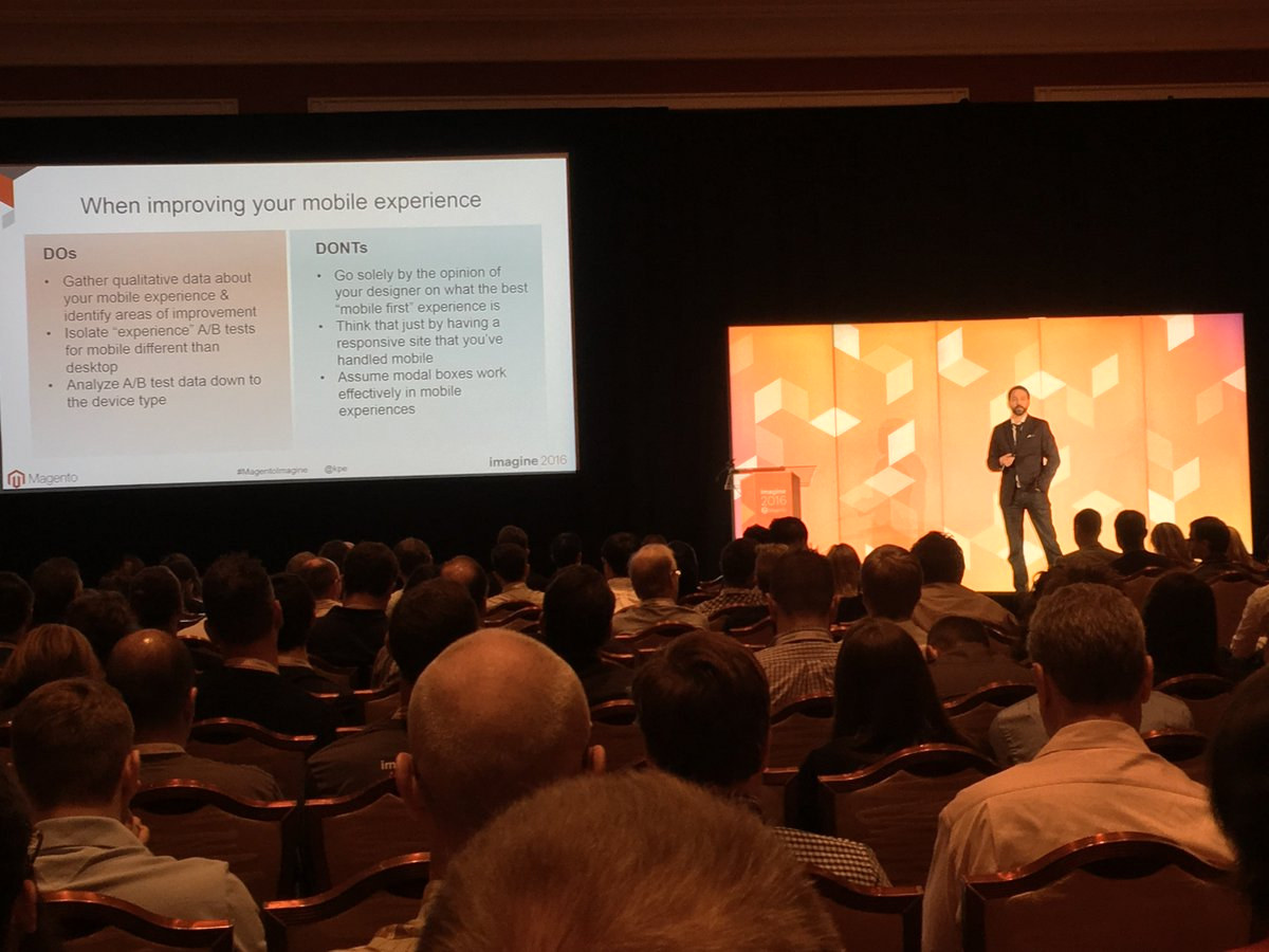 moogento: I reckon @guido would be into this a/b test talk by @kpe at #magentoimagine https://t.co/IRCak8mgtc