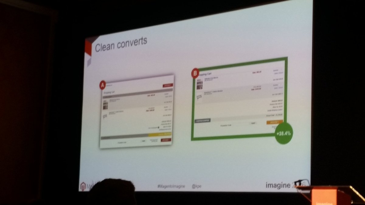 helenelefebvre: Shopping cart page should be tested ! Make it clean. #MagentoImagine #abtest https://t.co/XdBv5HKFyr