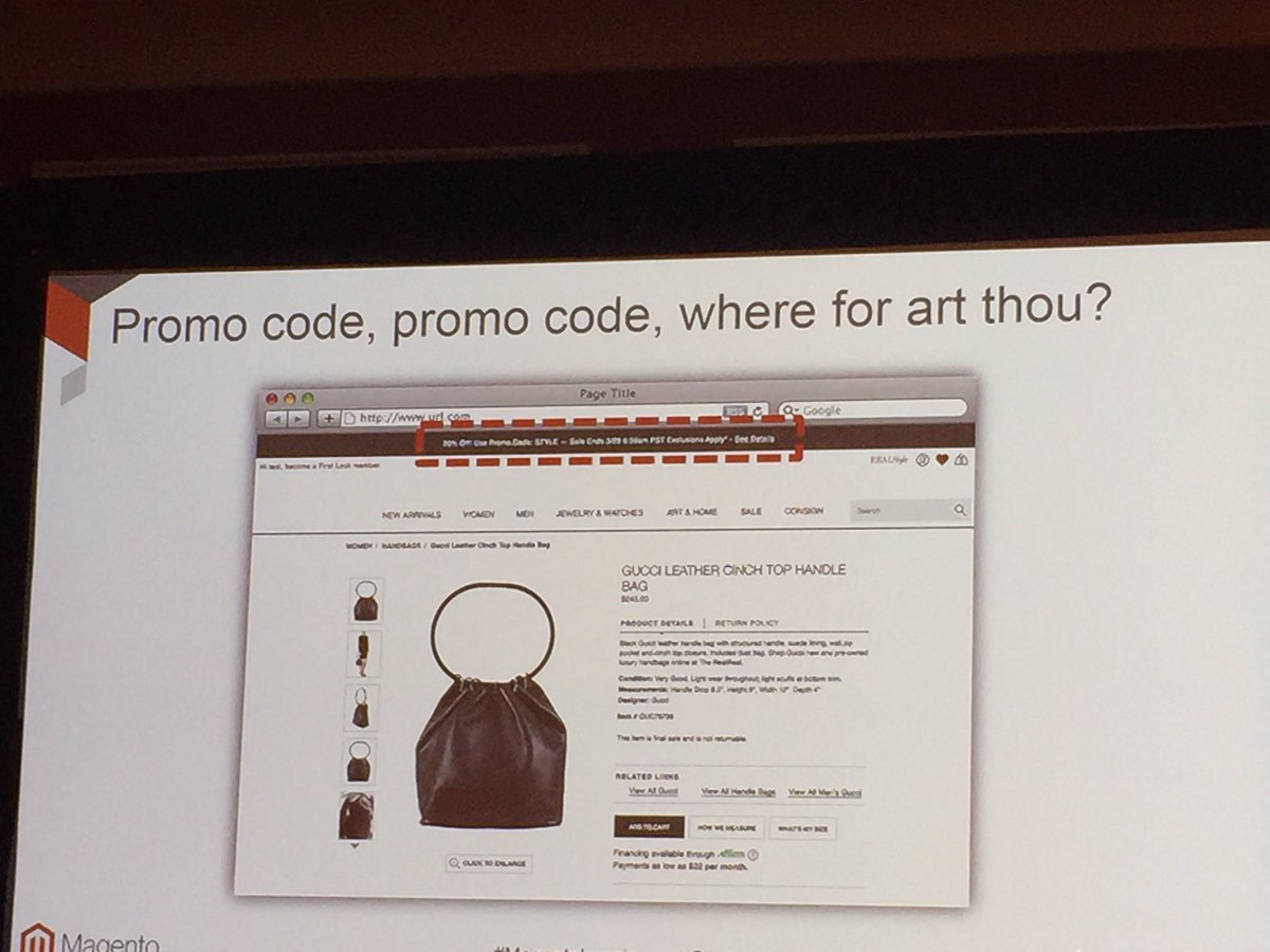 fantasydreamer: I couldn't find the promo code until it was pointed out!! 😂😂😂 #MagentoImagine https://t.co/FpPUBoxzuX