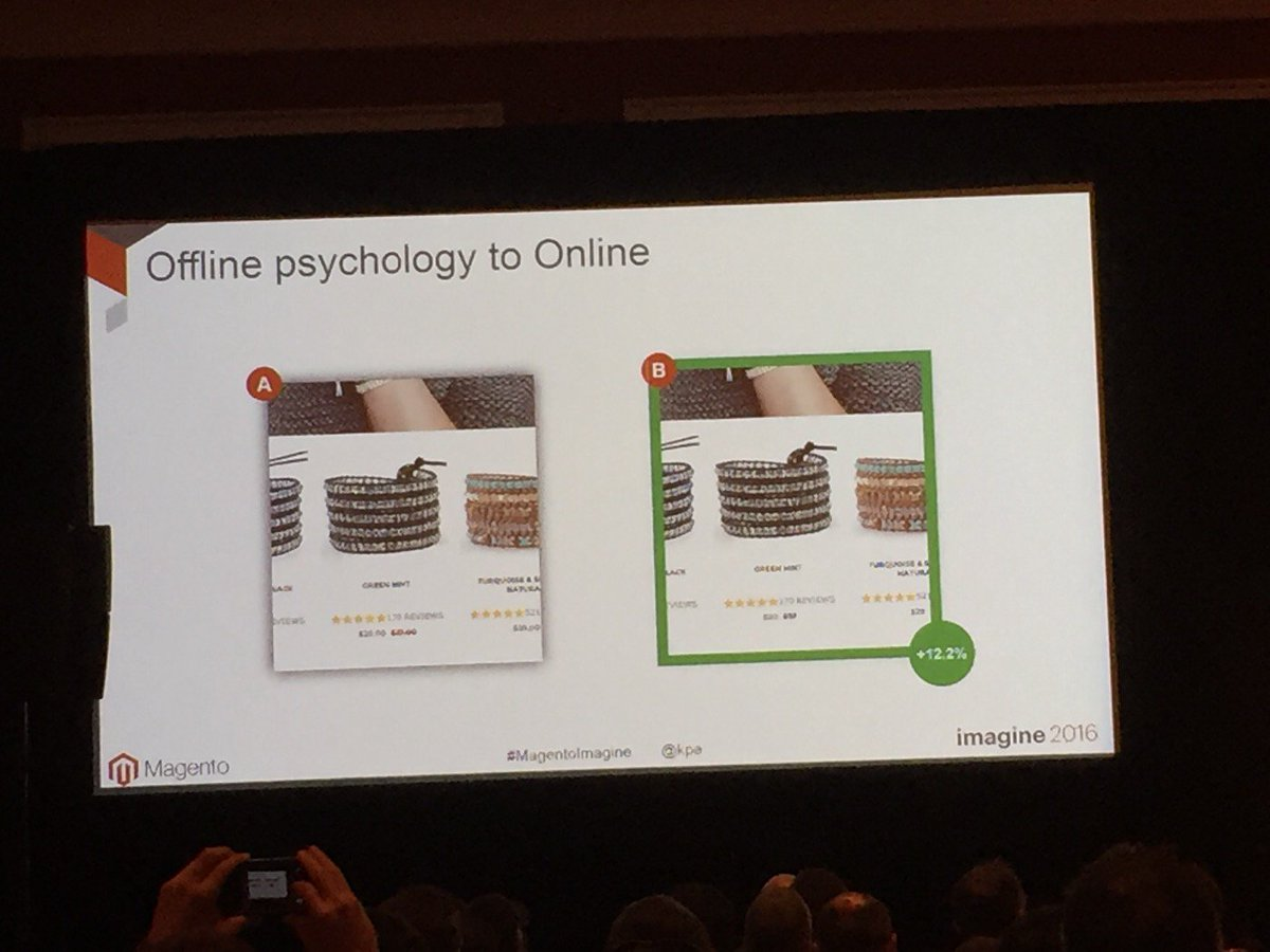 SirGrantFleming: Simply removing the decimal point improved conversion by over 12% @kpe #MagentoImagine https://t.co/IHu9gaE8o0