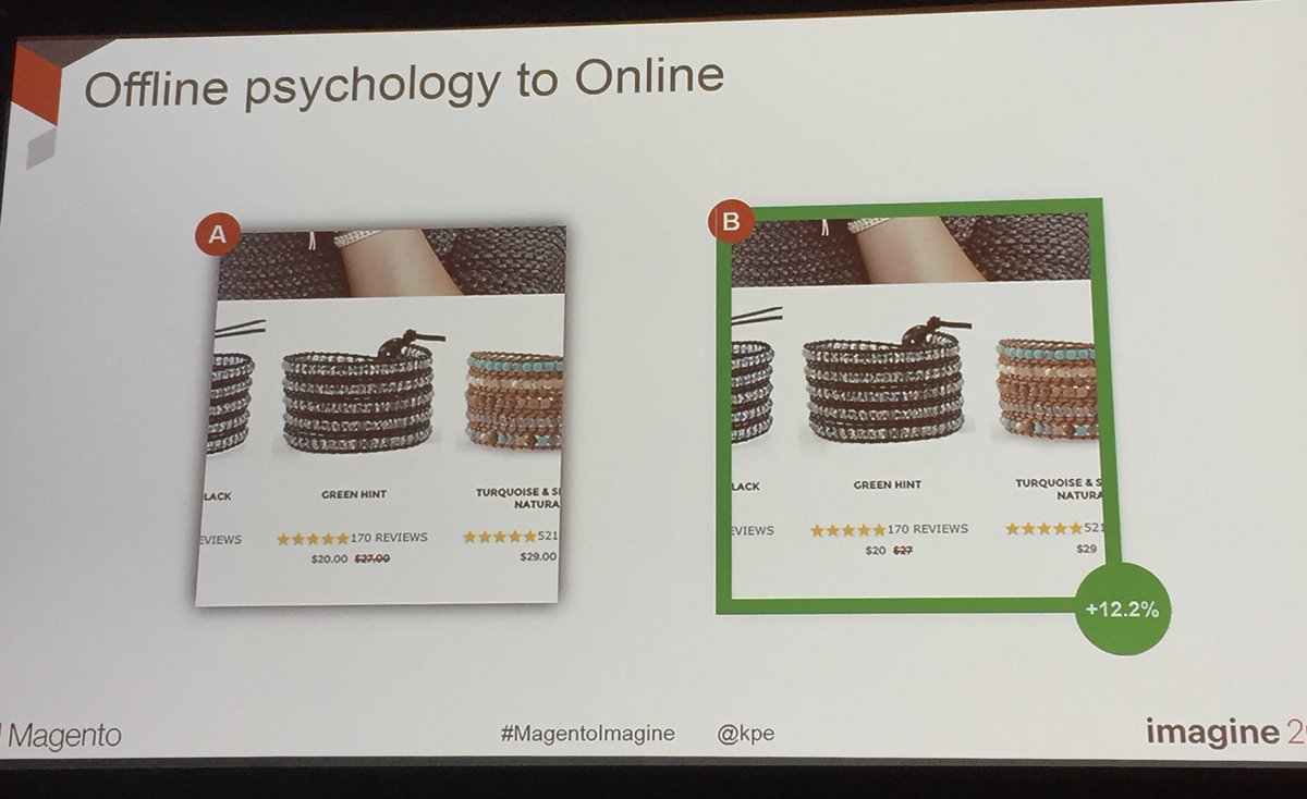 annhud: Consumer psychology: remove points of friction, like decimals in price #abtest #MagentoImagine https://t.co/J1ipoyY52I