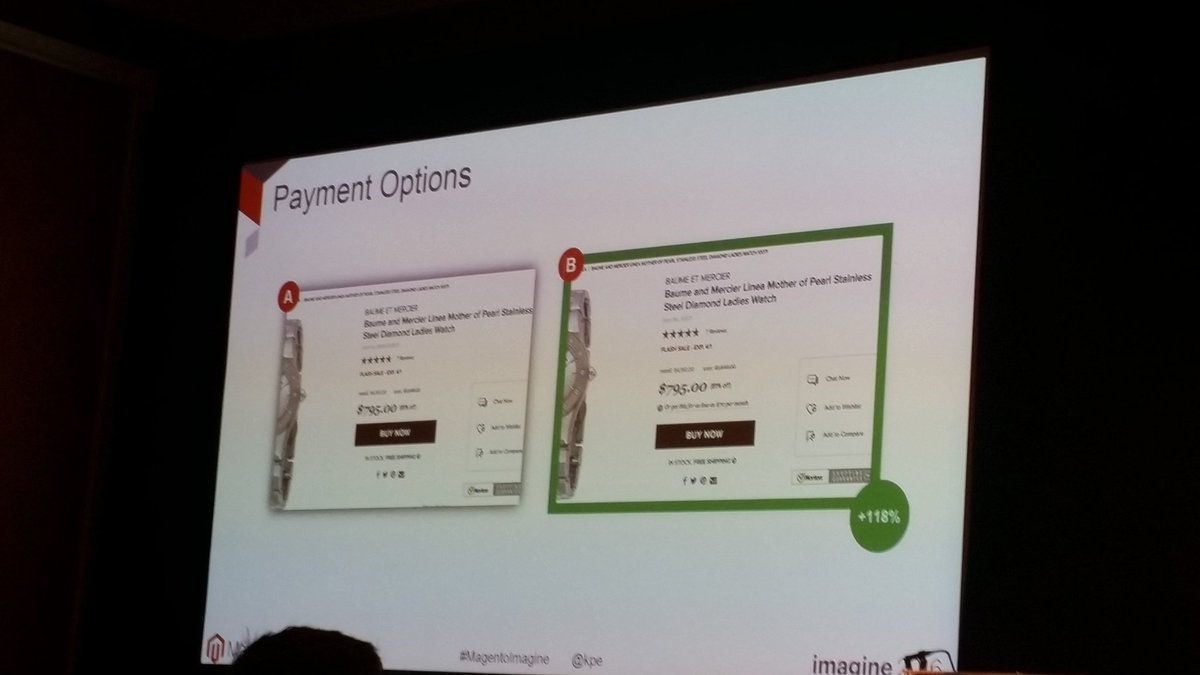 helenelefebvre: Payment plan options can leverage your revenue ! #MagentoImagine #abtest https://t.co/fFKCploAQl