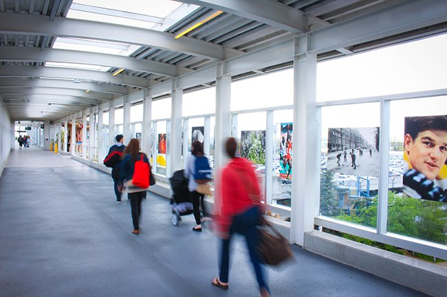 Photo lovers can enjoy a taste of @capturefest with Ted Grant's photo installation at YVR.