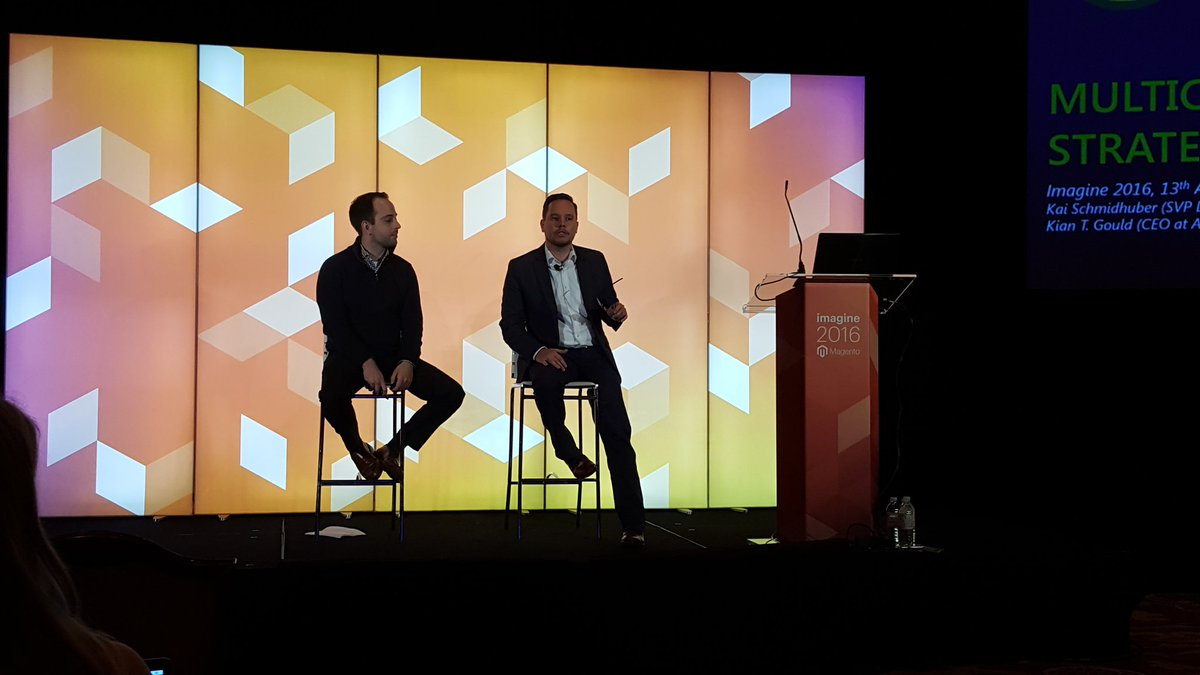 magento: We can only grow bigger in the digital space - Kai Schmidhuber @Airport_FRA & Kian Gould @aoepeople #MagentoImagine https://t.co/kDg1TmX45j