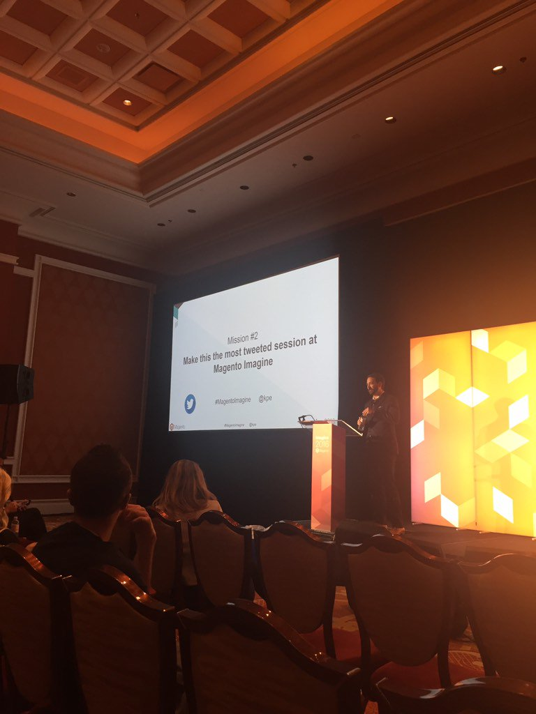 bizzond: #MagentoImagine @kpe Learning about A/B testing! So much fun :) https://t.co/S6h6JXugQj