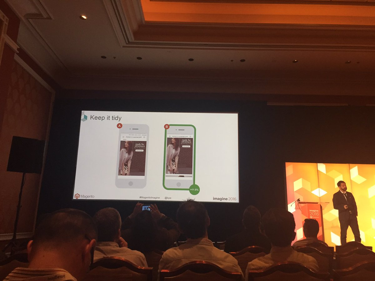 J_C_HSIEH: Simple changes can have a big impact and you don't know until you test #MagentoImagine @kpe https://t.co/rduOphdFhY