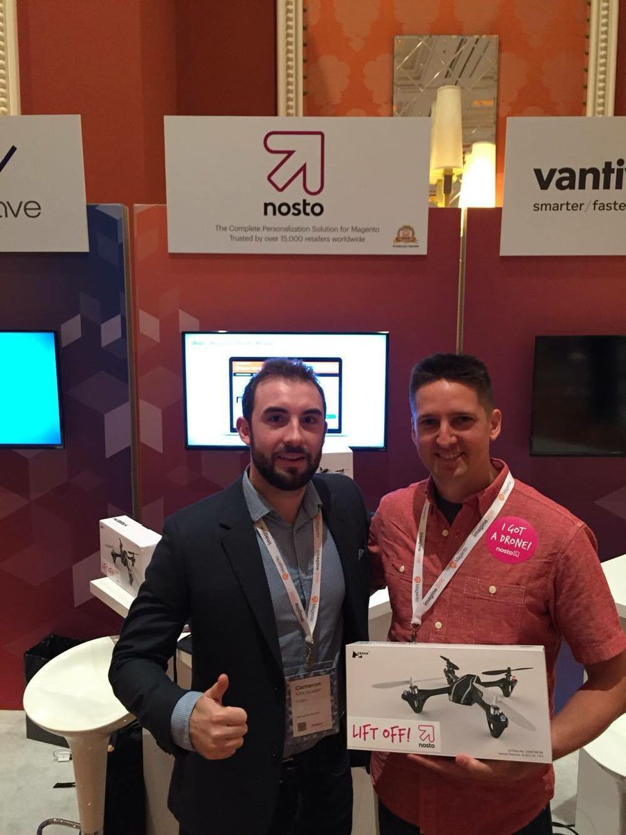 NostoSolutions: Congrats Josh from @AstoundCommerce!n#MagentoImagine https://t.co/bp6H7nyzXK