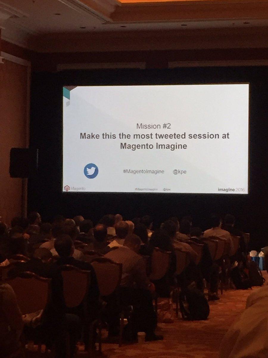 blueacorn: Mission accomplished! Thanks for over 300 tweets during @kpe session on A/B testing #MagentoImagine https://t.co/0hbif7ZtpR