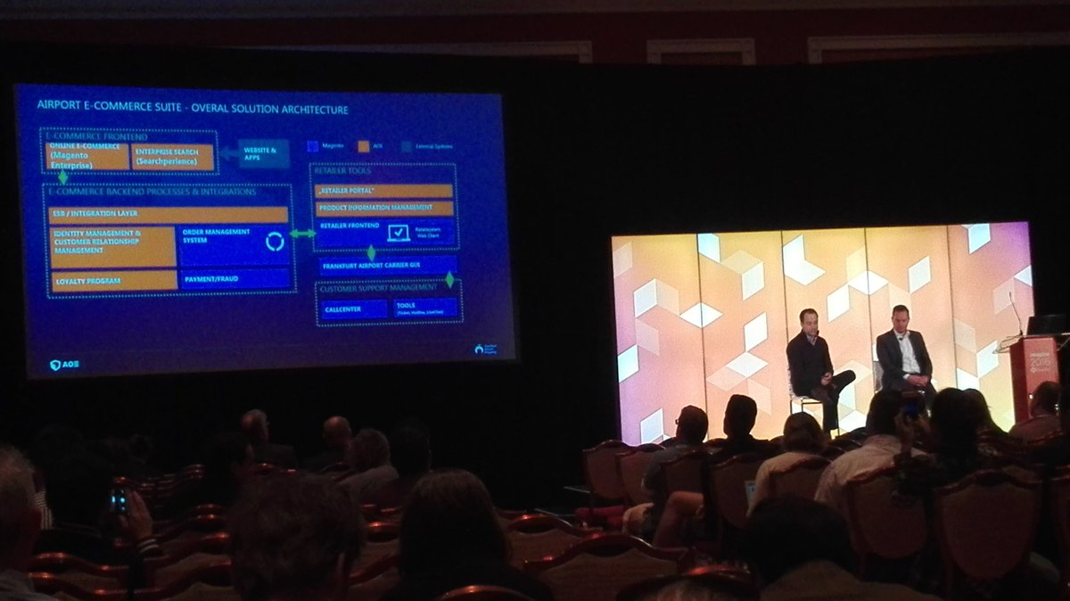 rojo_angel: @Airport_FRA and @aoepeople sharing their #Omnichannel solution architecture at #MagentoImagine Nice! https://t.co/KwoqzIbjOI