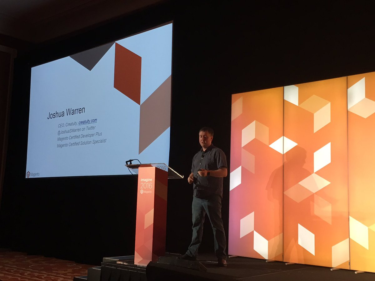 MagentoJenna: Catch @JoshuaSWarren in Mouton 2 now at #MagentoImagine https://t.co/0faQJGylEp