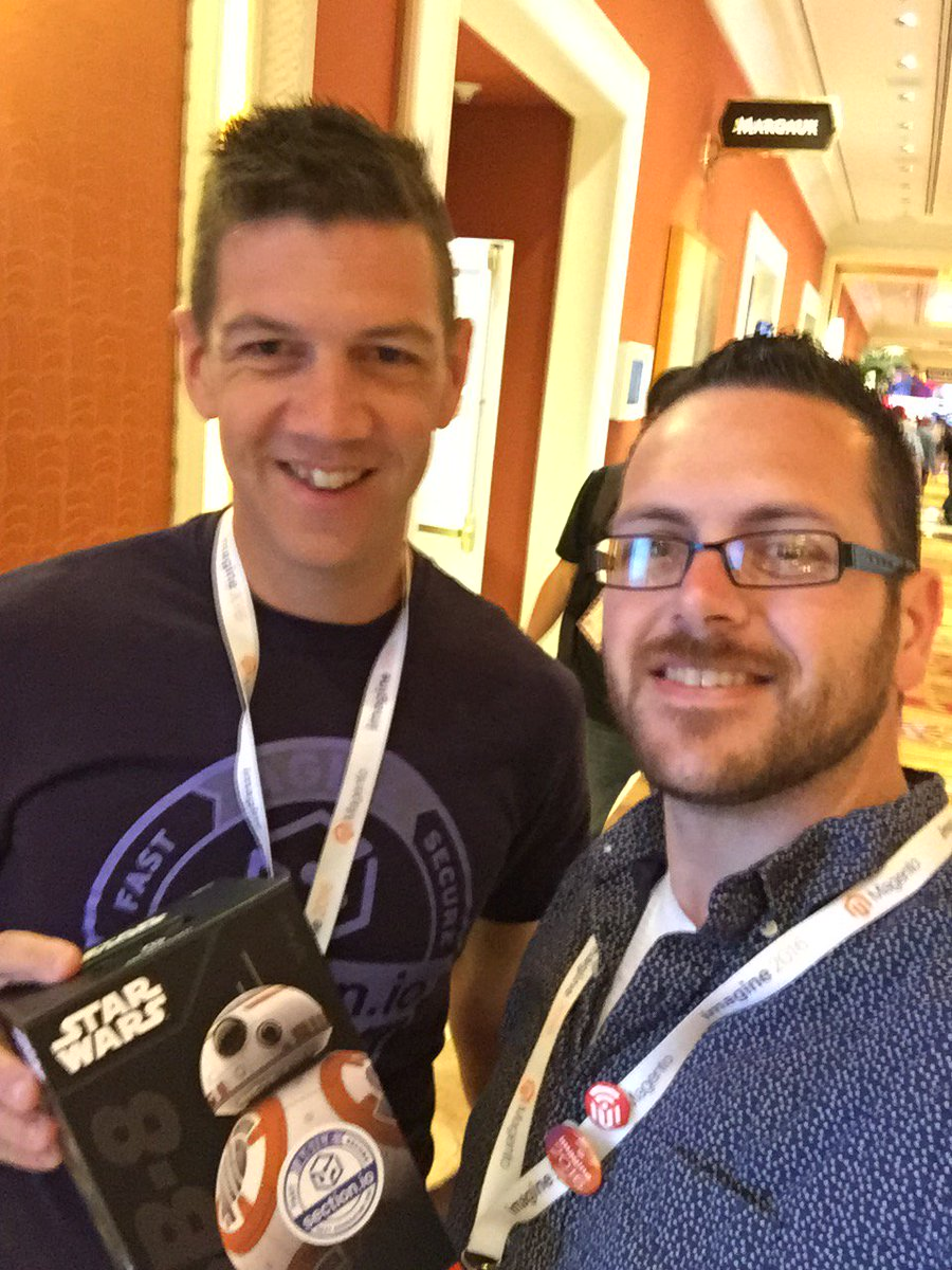 errorik: @sectionio 🤘🏻 Thanks for the BB8 droid! Looking forward to learning more about your #Magento2 #CDN #MagentoImagine https://t.co/TcQGIVG3ck