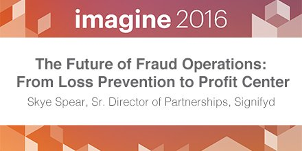 signifyd: Better #fraud ops = better bottom line. Come hear more @ 12:25 in Lafleur 2. #MagentoImagine https://t.co/kvUW9qBLQn