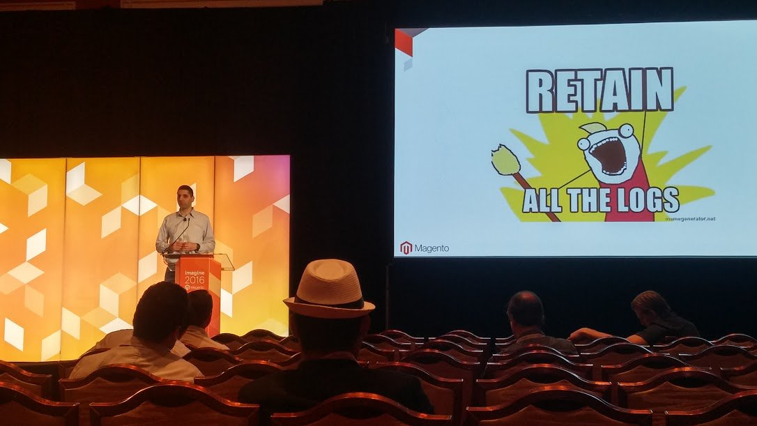 nexcess: Retain all the logs!! #MagentoImagine https://t.co/HNqABtMn8P