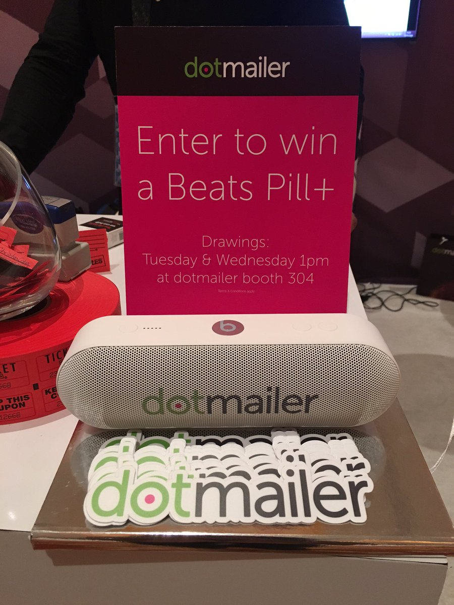 dotmailer: Last chance to win a beats pill+ at booth #304! Come on down if you are feeling lucky!! Draw 1PM #MagentoImagine https://t.co/Pyj13MDmKi
