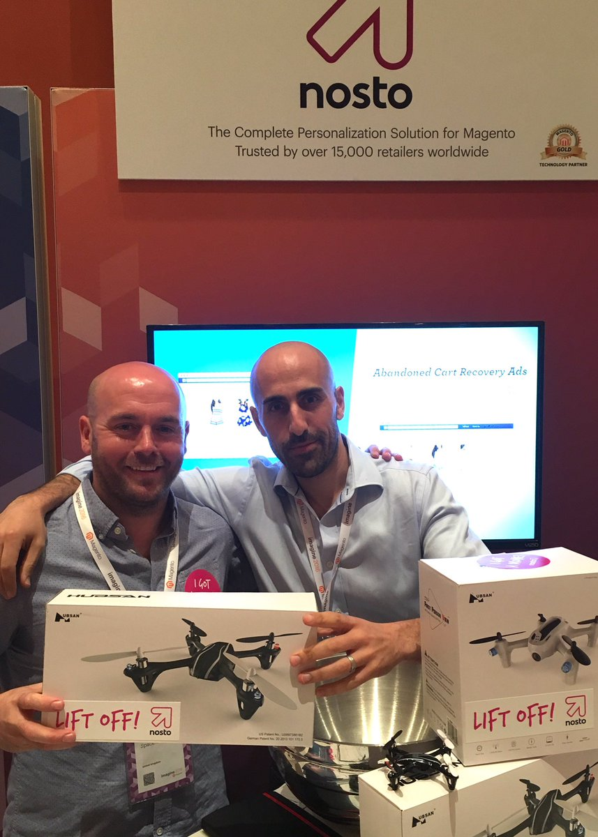 NostoSolutions: Watch out @Space48ers. Your MD is coming home with a Nosto drone! #MagentoImagine https://t.co/lnqd0CUfqJ