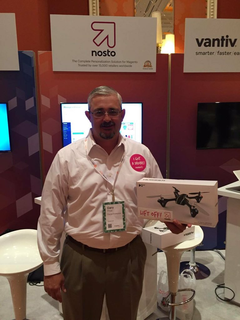 NostoSolutions: Congrats to Gary from @carrierhvac @carrierentca! #MagentoImagine https://t.co/qqED52Ob53