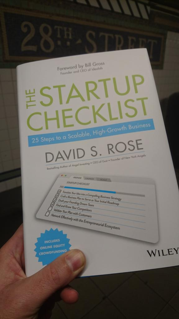 Advance copy from @davidsrose of his new book! Must-read for the 150+ companies @SOSVvc accelerates ea. year. Thx D! https://t.co/XOh9qekFPD