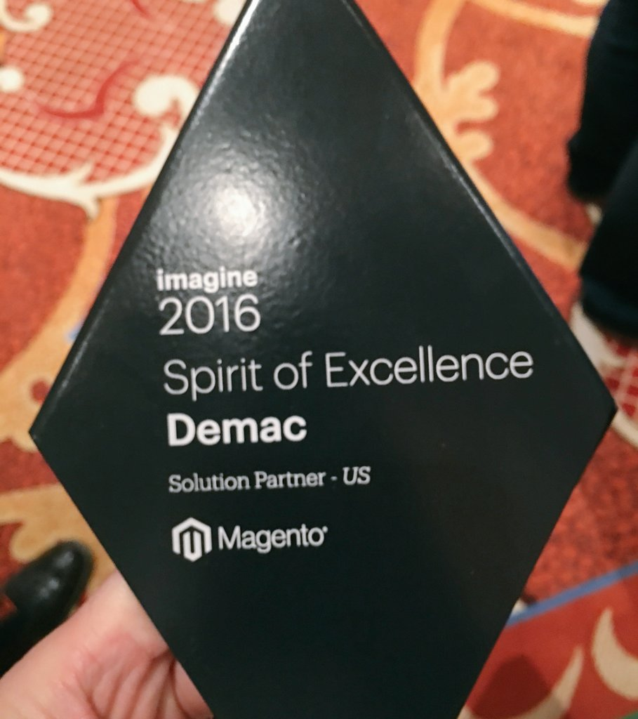 demacmedia: Year after year we proudly continue to bring our Spirit of Excellence to @Magento & our retailers! #MagentoImagine https://t.co/Gpcm2J5lpa