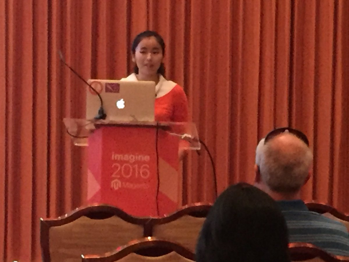 annhud: First up at #Design #Barcamp is Yong Huang from @magento_ux!#MagentoImagine https://t.co/YkaGYfuUll