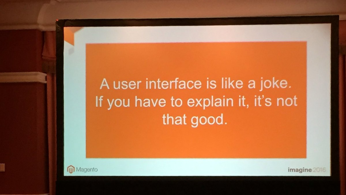 mattdion: Good one #MagentoImagine https://t.co/xa5BnAKdGO