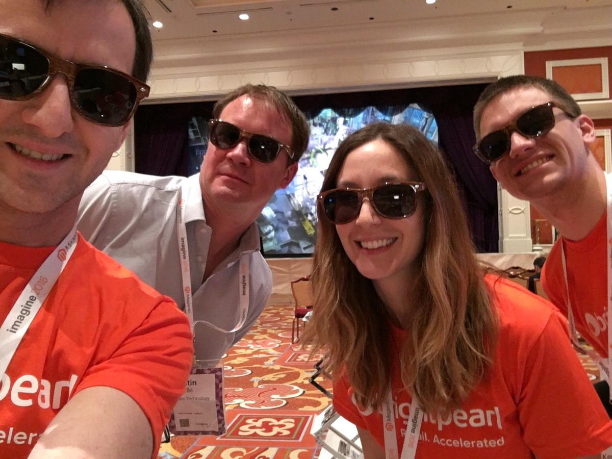 BrightpearlHQ: We're loving @ShipStation's sunglasses so much we took a selfie! #MagentoImagine https://t.co/oiBy66y4WK