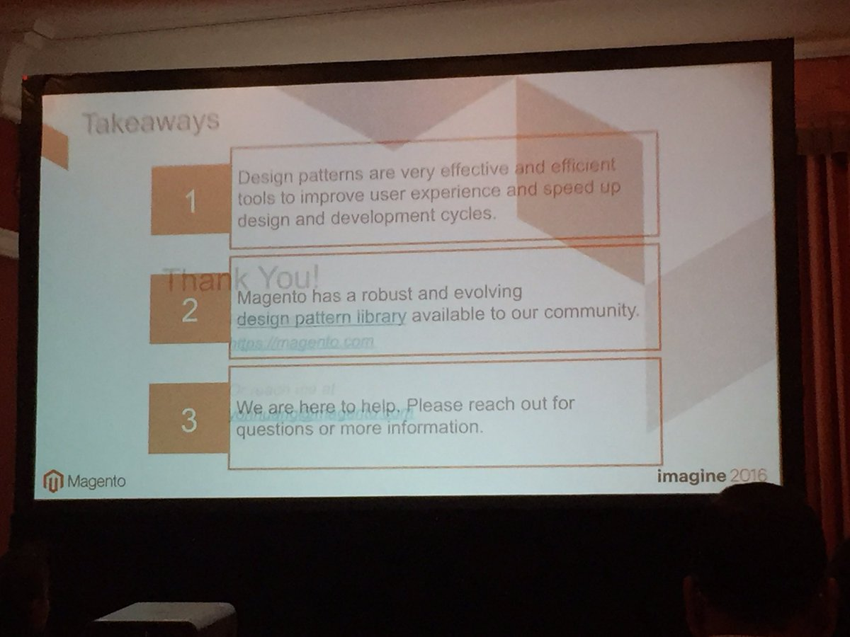 annhud: Takeaways from Yong's design pattern #design #barcamp presentation #MagentoImagine https://t.co/caLzEBBEJ9