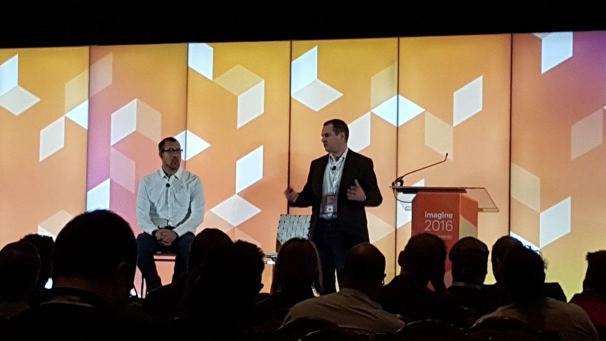 magento: .@peter_sheldon & @dmgeisinger sharing more detail on #MagentoCloud at Solution Partner Summit #MagentoImagine https://t.co/BzmBEqYYUn