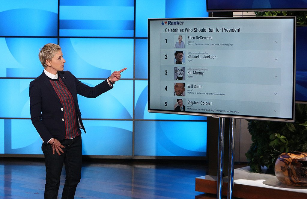 The people have spoken, and they want Ellen DeGeneres to succeed Barack Obama: