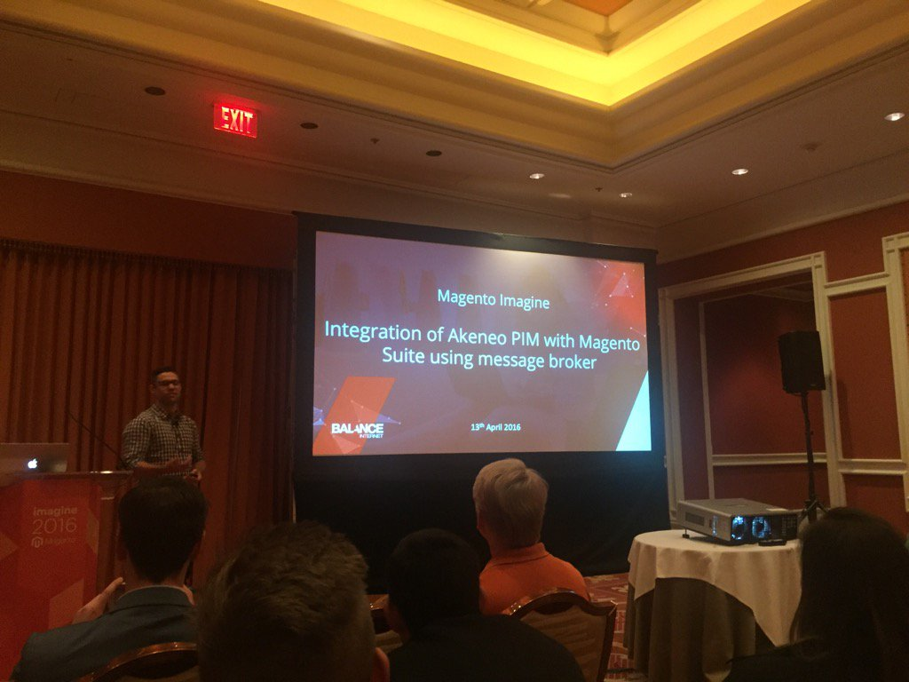 akeneopim: Aaron from @balanceinternet is talking about Magento 2 + Akeneo integration at #MagentoImagine https://t.co/KCe9JFhRU2