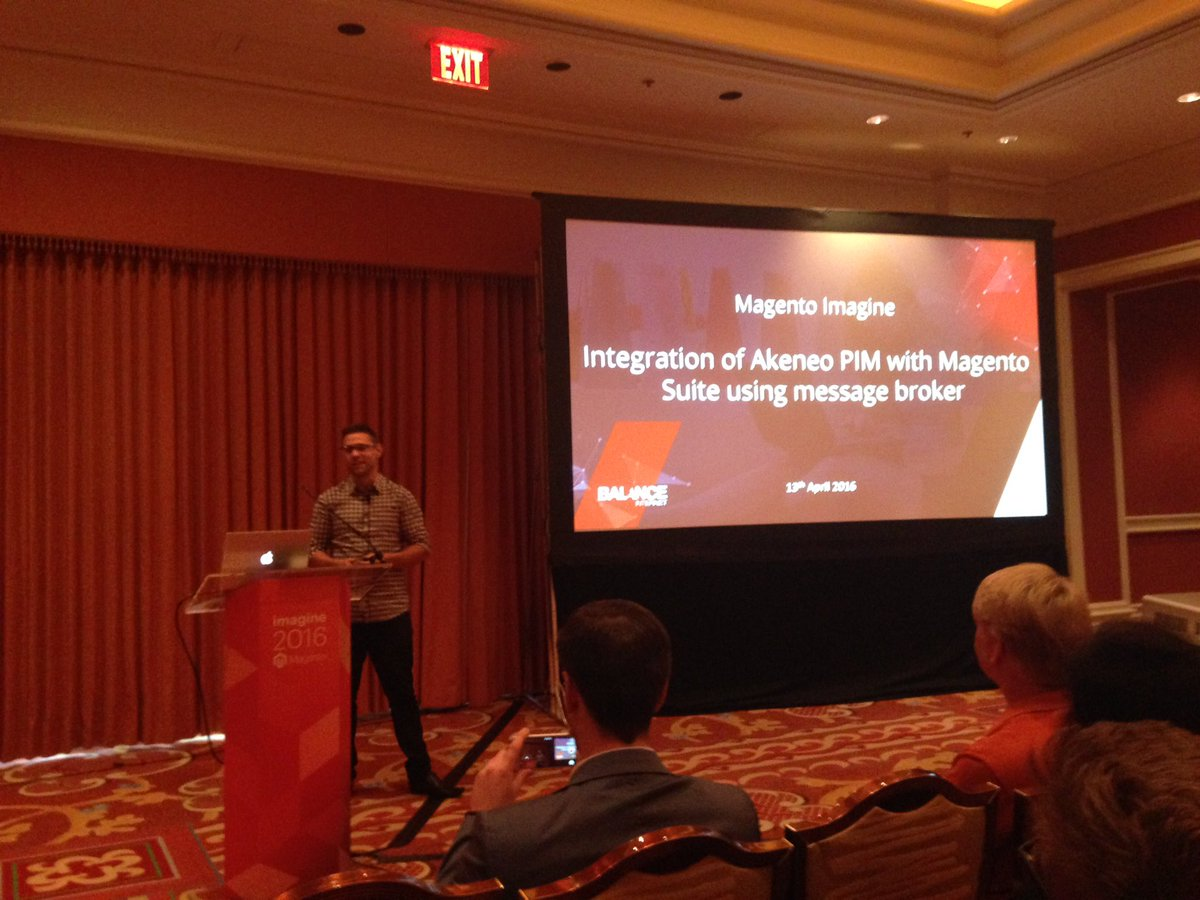 vir_nantes: The smart Aaron from @balanceinternet about integrating @akeneopim w/ #magento #MagentoImagine #Imagine2016 https://t.co/CRWkvqAtvM