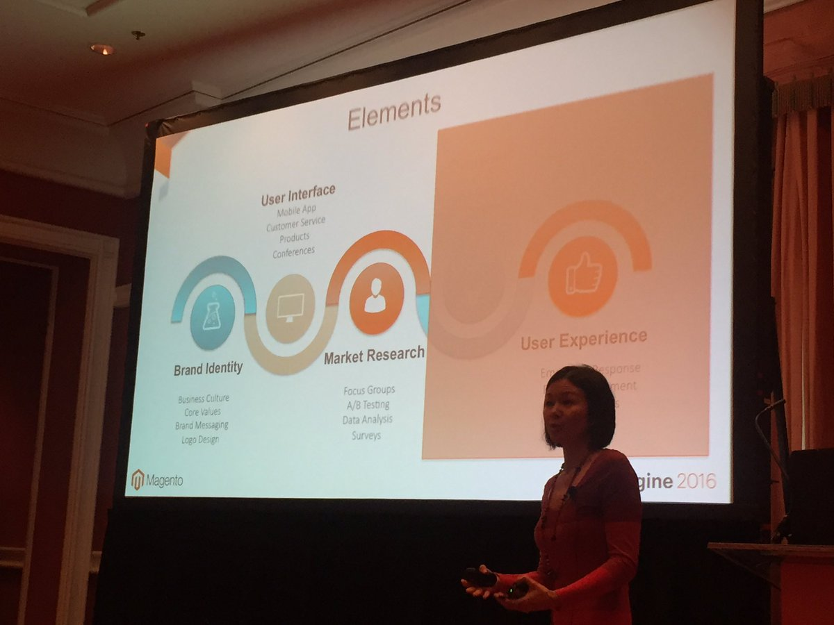 vaimoglobal: 'Are our core values emitted at every level of our product's design?' UI/UX with @luckygirliegirl @magentoimagine https://t.co/yeAeQPWhsk
