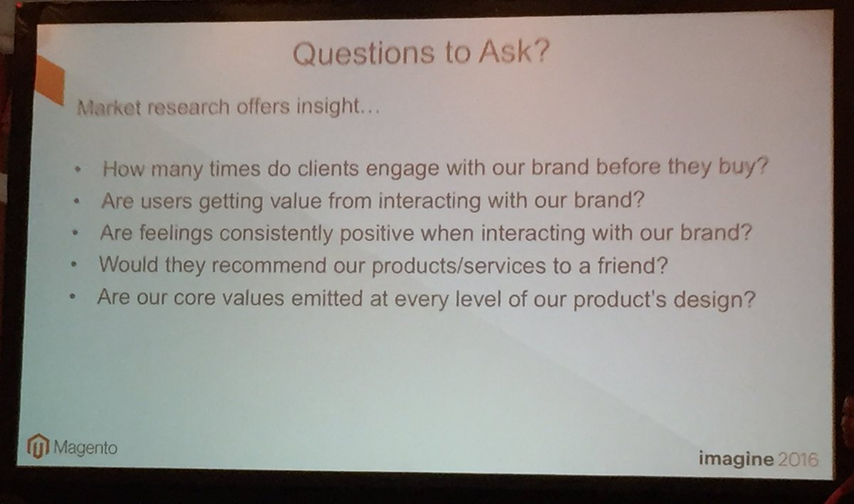 annhud: Market Research questions to ask #design #barcamp #MagentoImagine https://t.co/XglCuTfCEs