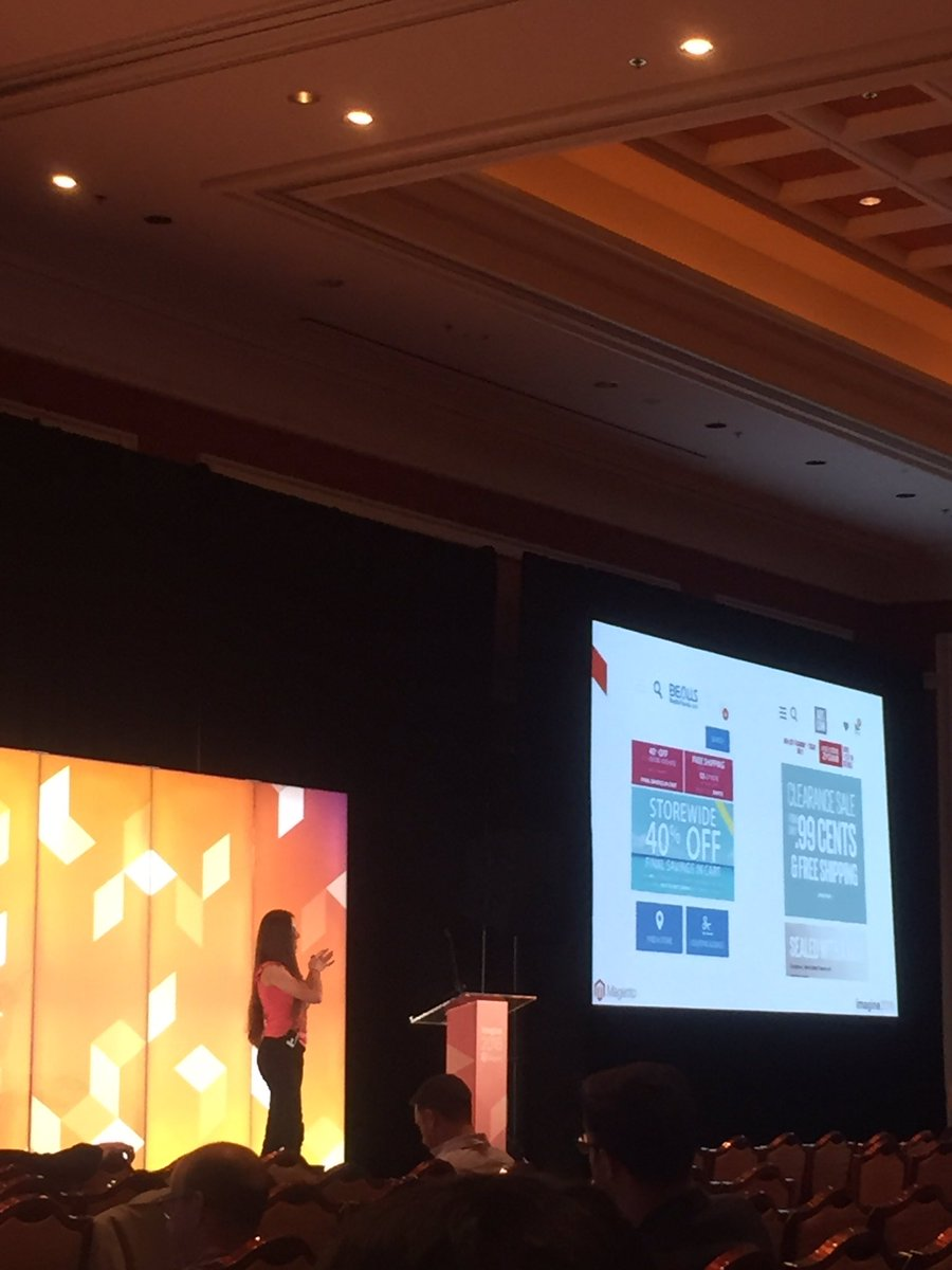 blueacorn: Great UX insight by @ecomillustrated at #MagentoImagine Partner Summit https://t.co/HCUDXzHJf2