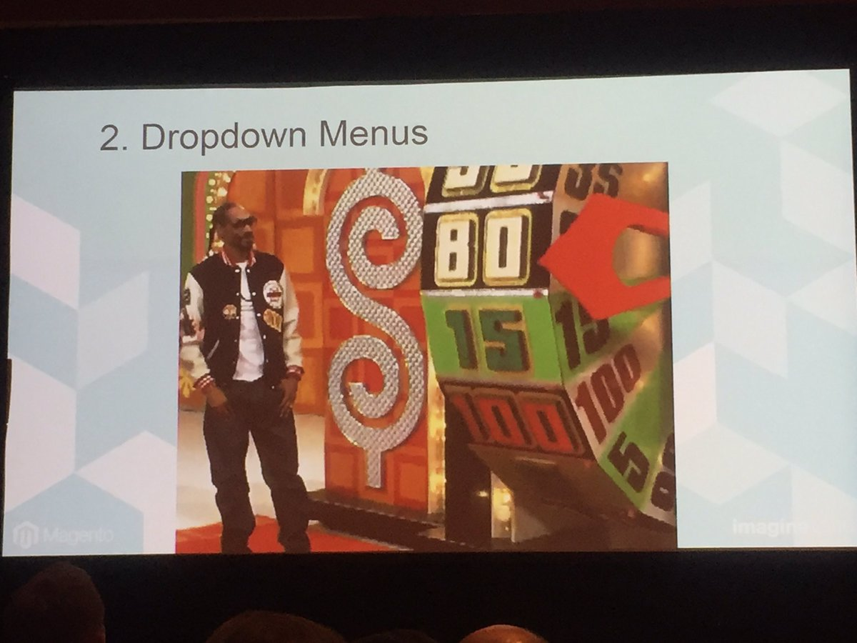 emily_a_wilhoit: Mobile drop down compared to Price is Right wheel by @ecomillustrated #MagentoImagine https://t.co/KR7rTrsFqM
