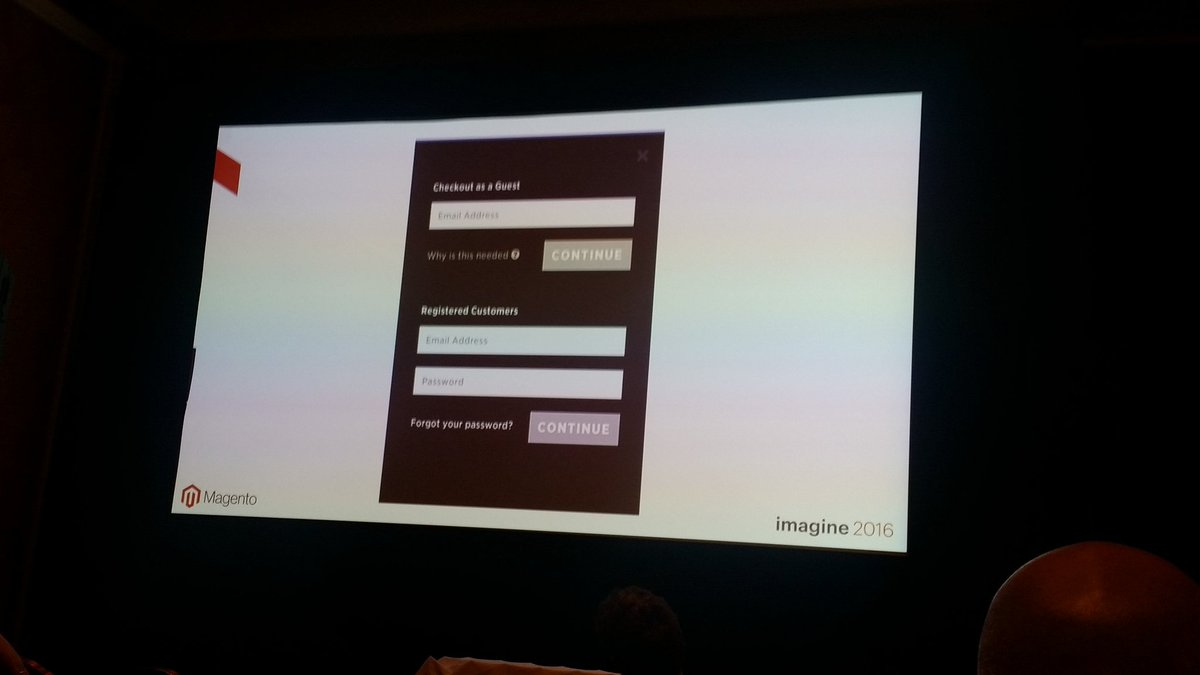 helenelefebvre: Guest checkout can save your mobile conversion #MagentoImagine #mobileUX https://t.co/pMprF38Xmu