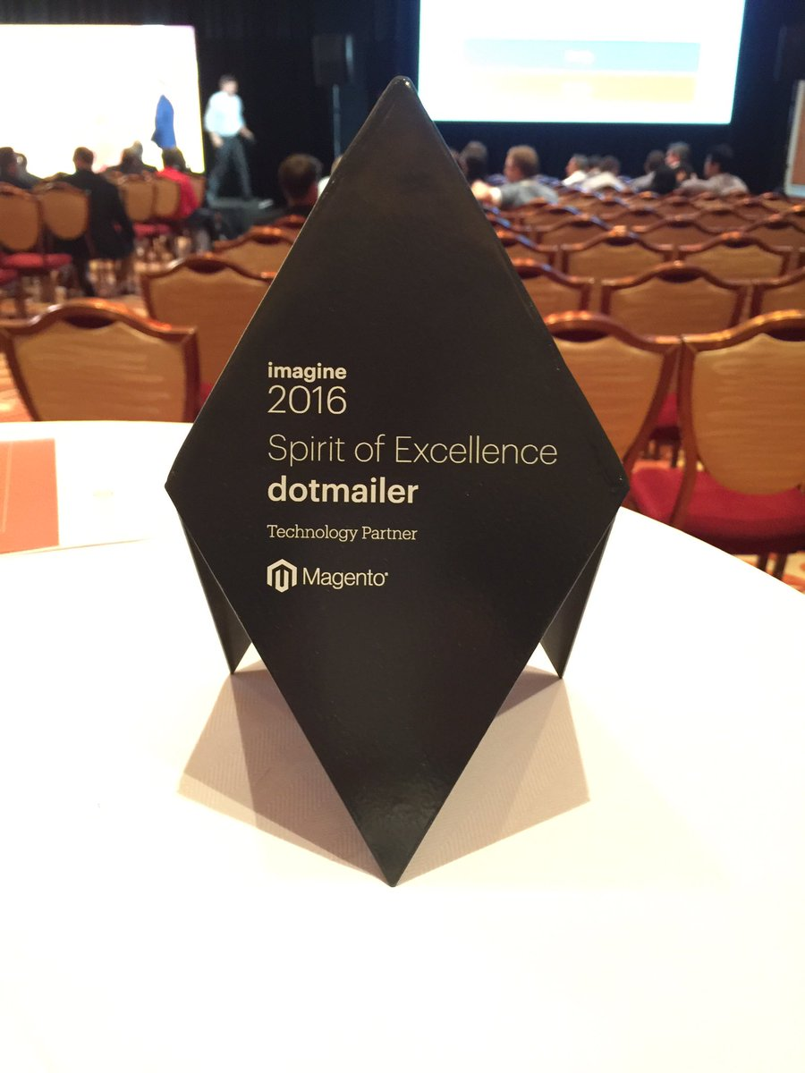 dotmailer: We're delighted with our Spirit of Excellence award just won at the #MagentoImagine awards https://t.co/7vfFCG3x7Q