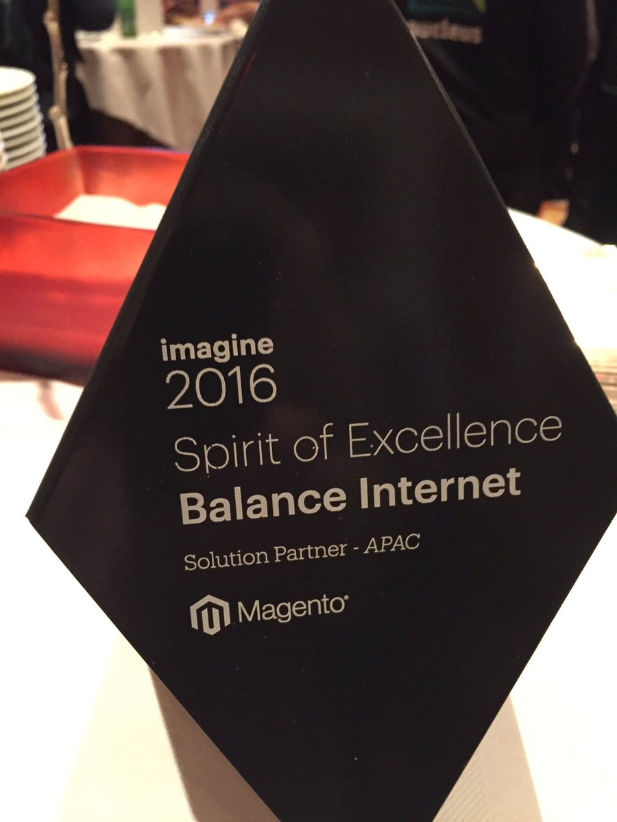 balanceinternet: #MagentoImagine Spirit of Excellence Award Winner. Congrats team @balanceinternet https://t.co/XWdfwyuAht