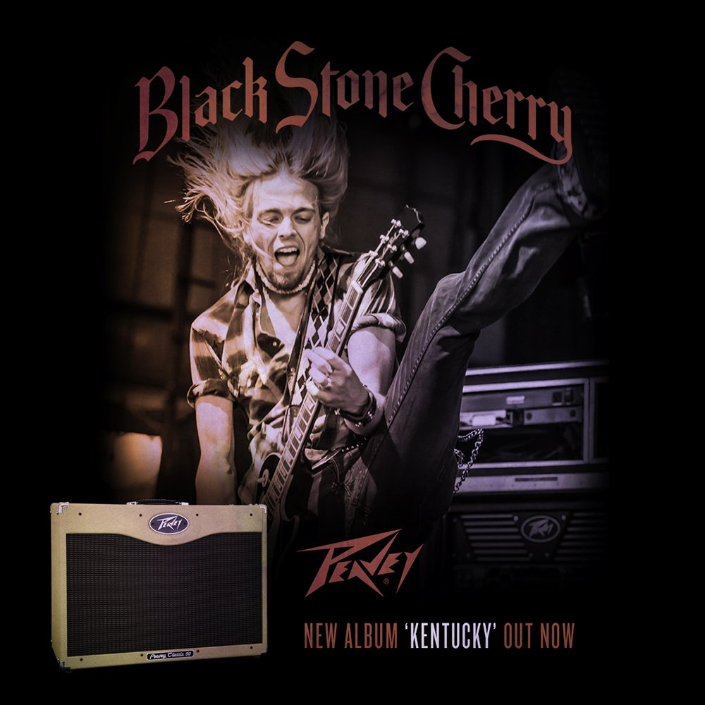 Black Stone Cherry's new album #KENTUCKY is out now! RT for a chance to win a Peavey Classic 50 212! @BlkStoneCherry https://t.co/z8VlKWShQI