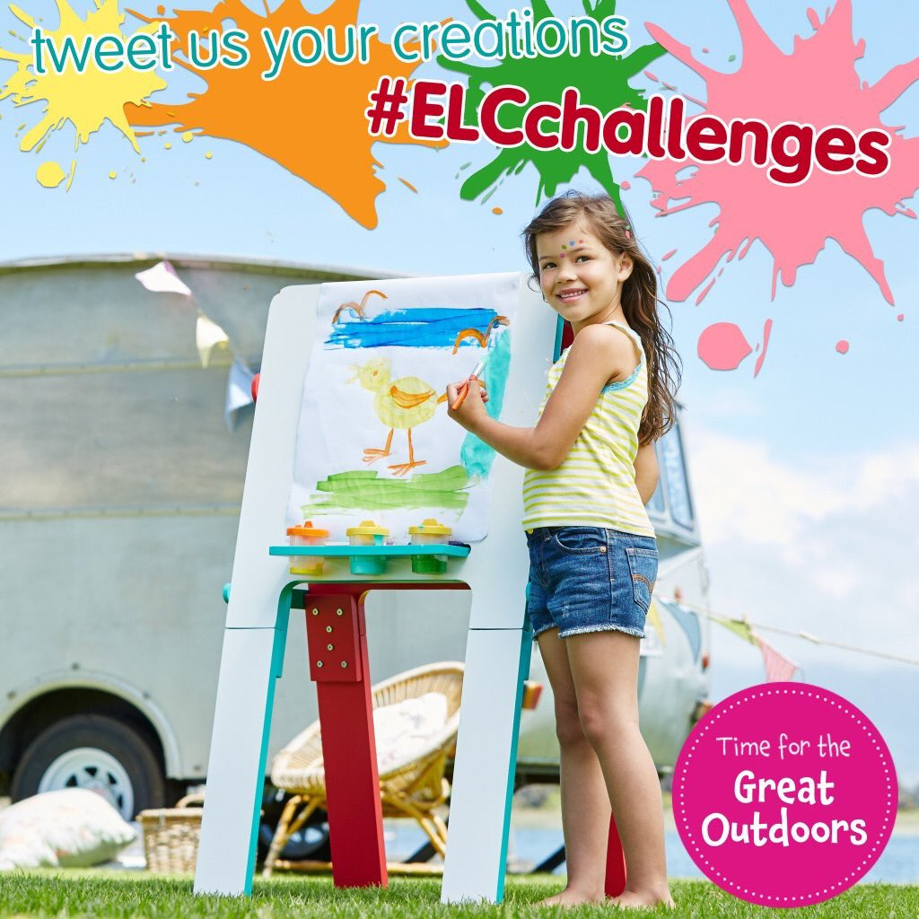 Tweet us a photo of your little one's completed challenge using #ELCchallenges for the chance to win this easel! https://t.co/8Hs4z6i1SZ