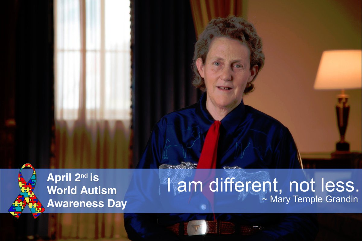 I am different, not less ~Mary Temple Grandin https://t.co/V4Qt7qxfp2