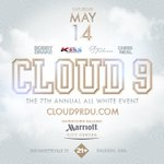 The #1 All-White Party of the Triangle! #Cloud9 Saturday 5.14.16 @ The Raleigh #Marriott! 21+ https://t.co/d4s0bvU0e4