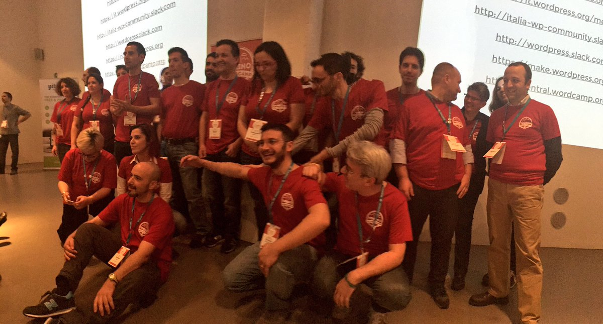 In 9 months, the Italian #WordPress community grew from 0 to 10 meetups and a WordCamp. Standing ovations. #WCTRN https://t.co/mgXpFV22GS
