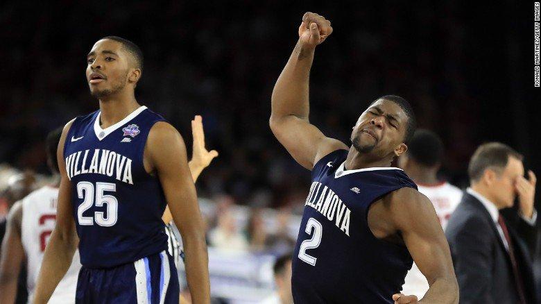 Villanova rolls to NCAA basketball final with 95-51 victory over Oklahoma.