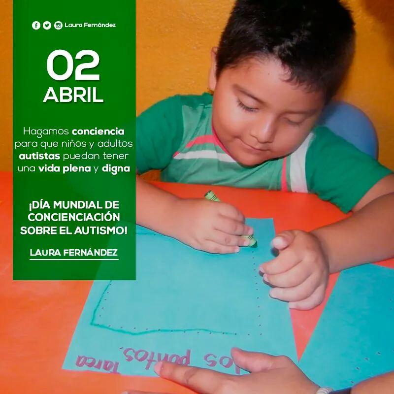 Hagamos conciencia para que niños y adultos autistas puedan tener una vida plena y digna. #DíaMundialDelAutismo https://t.co/wuTne72WUW