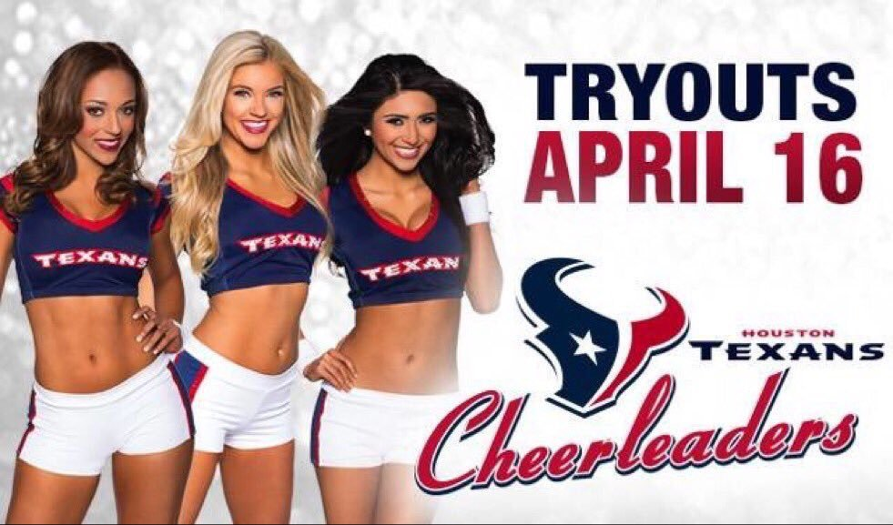 #Houston! Since the lovely @TexansCheer are here tonight...you're allowed to wear your #Texans gear! #HTCTryOuts2016 https://t.co/mRlpWYuEDh