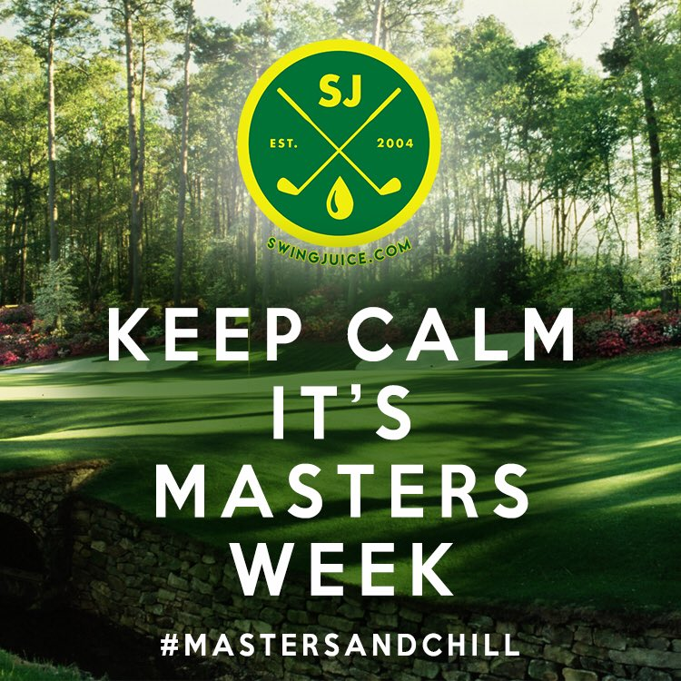 Keep Calm Ladies and Gentleman, It's Masters Week!! #golf #mastersandchill #themasters https://t.co/ZKUjEj7KBk