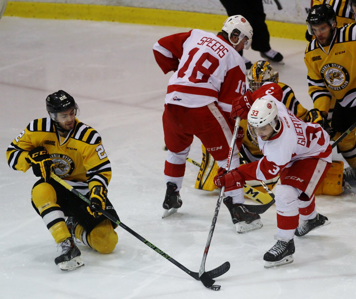 The Sarnia Sting stayed alive by winning Game 5 against the Soo Greyhounds https://t.co/u7IXgvVfvL https://t.co/HlcJyPHkt9