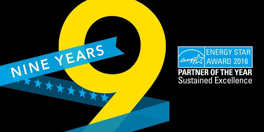 Thrilled to be named a 2016 @ENERGYSTAR Partner of the Year! Award details: https://t.co/trXGfFEfsr #ENERGYSTARPOY https://t.co/RwNhIS8GgA