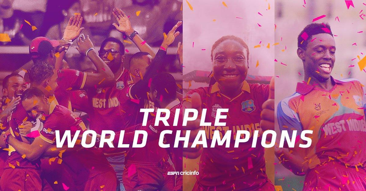 Under-19 #CHAMPIONS  Women's #WT20 #CHAMPIONS  Men's #WT20 #CHAMPIONS https://t.co/eBwj0tKfKa